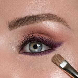 Close-up of this season's eye shadow